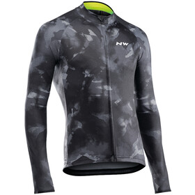 Northwave Blade 3 Maillot À Manches Longues Homme, camo black/yellow fluo